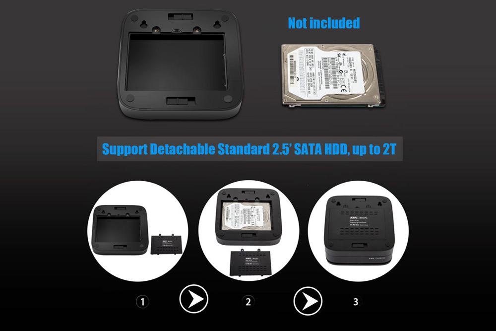ACEPC AK1 Mini PC - HDD