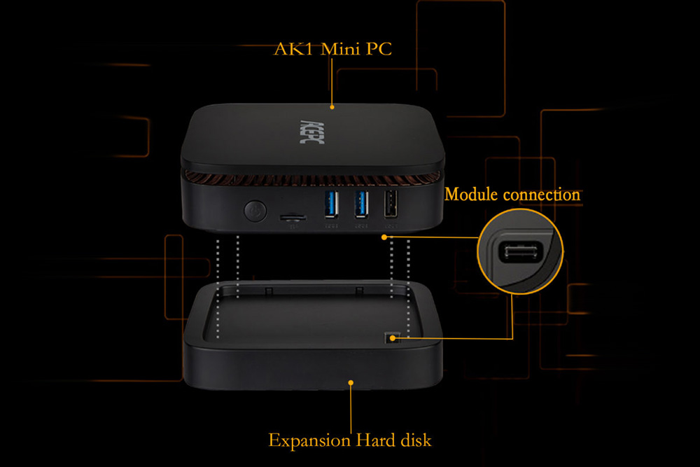 ACEPC AK1 Mini PC - connection