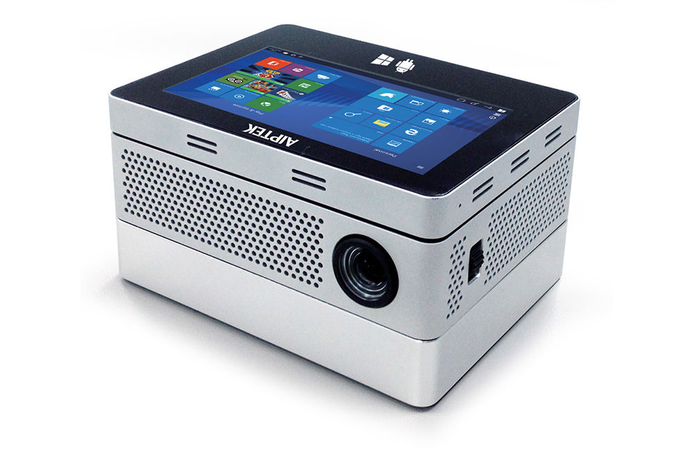 Aiptek iBeamBlock Mini PC with projector and battery