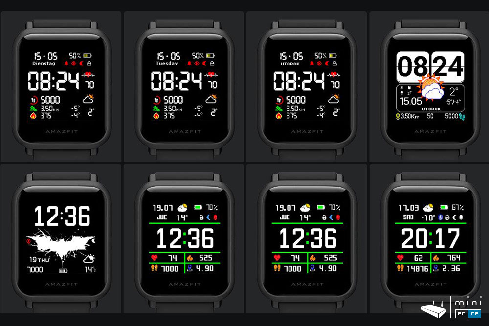 There are many watchfaces to choose from