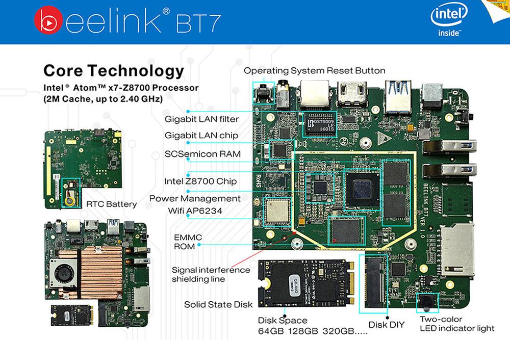 Beelink BT7 PCBA