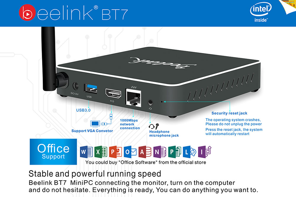 Beelink BT7 back