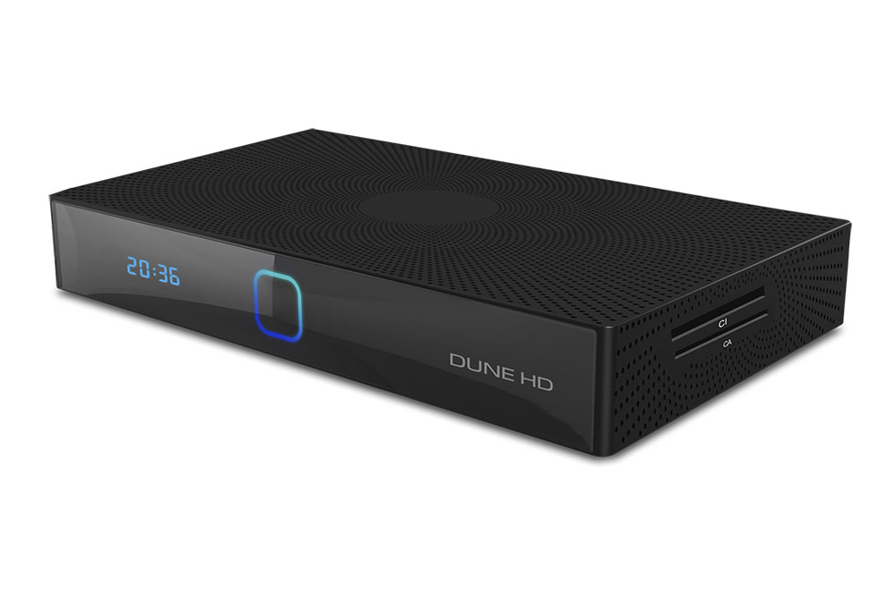 Dune HD Sky 4K Plus is a 4Kp60 HDR media player, combined with an Android Smart TV box and DVB-T/T2/C receiver