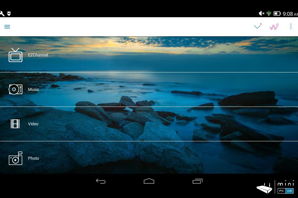 EZCast 4K - app main menu