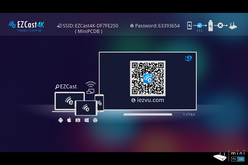 EZCast 4K main screen