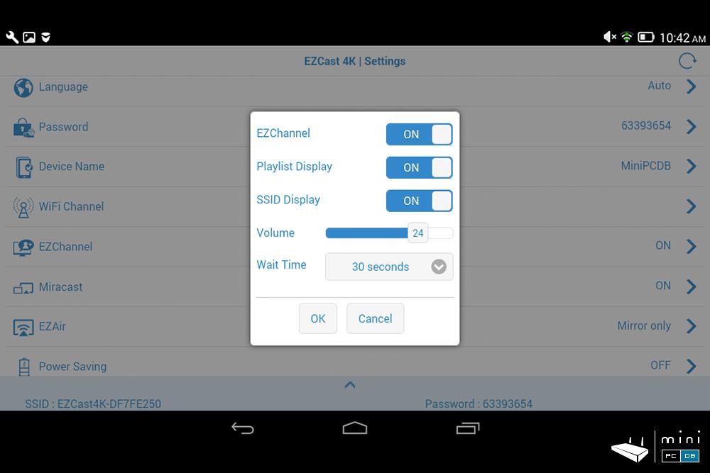 EZCast 4K - app settings