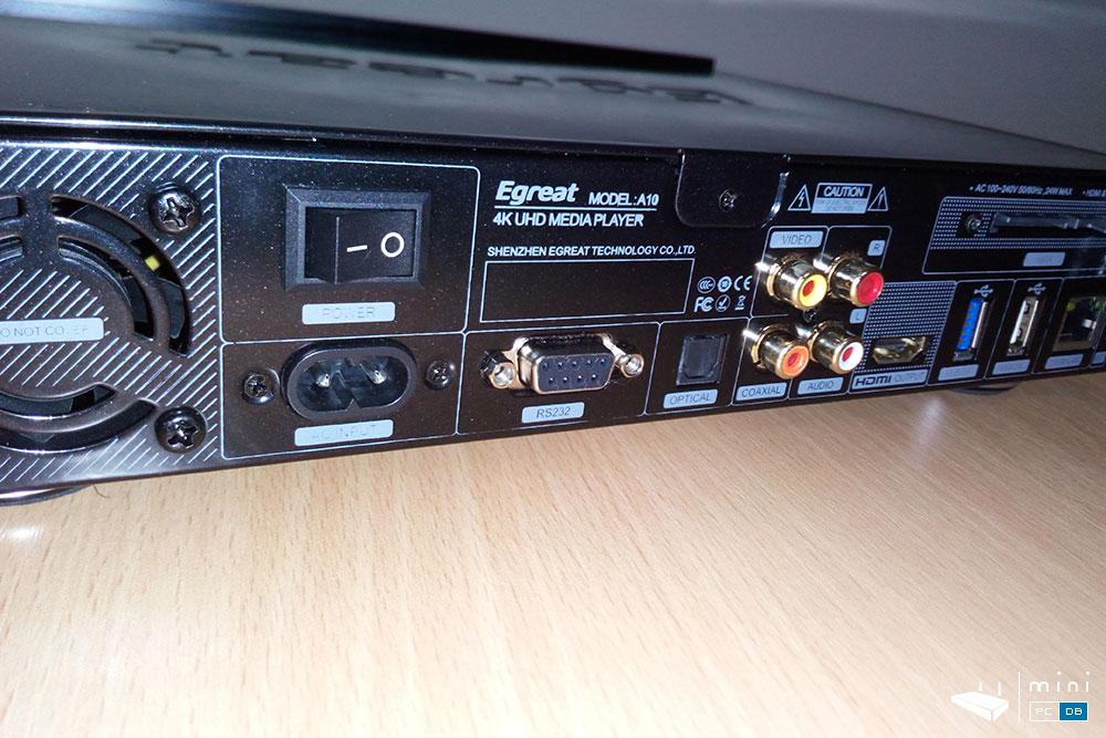 Egreat A10 connectors