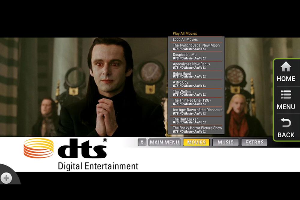 Egreat A5 BD menu - DTS-HD