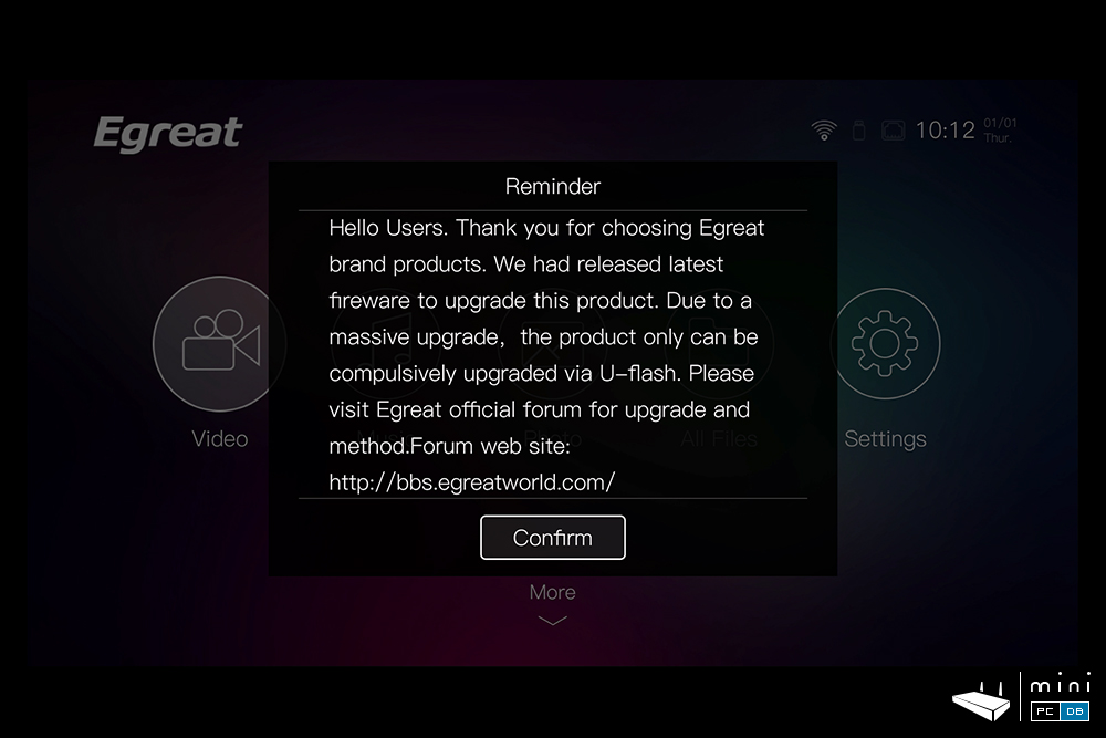 Egreat A5 firmware upgrade