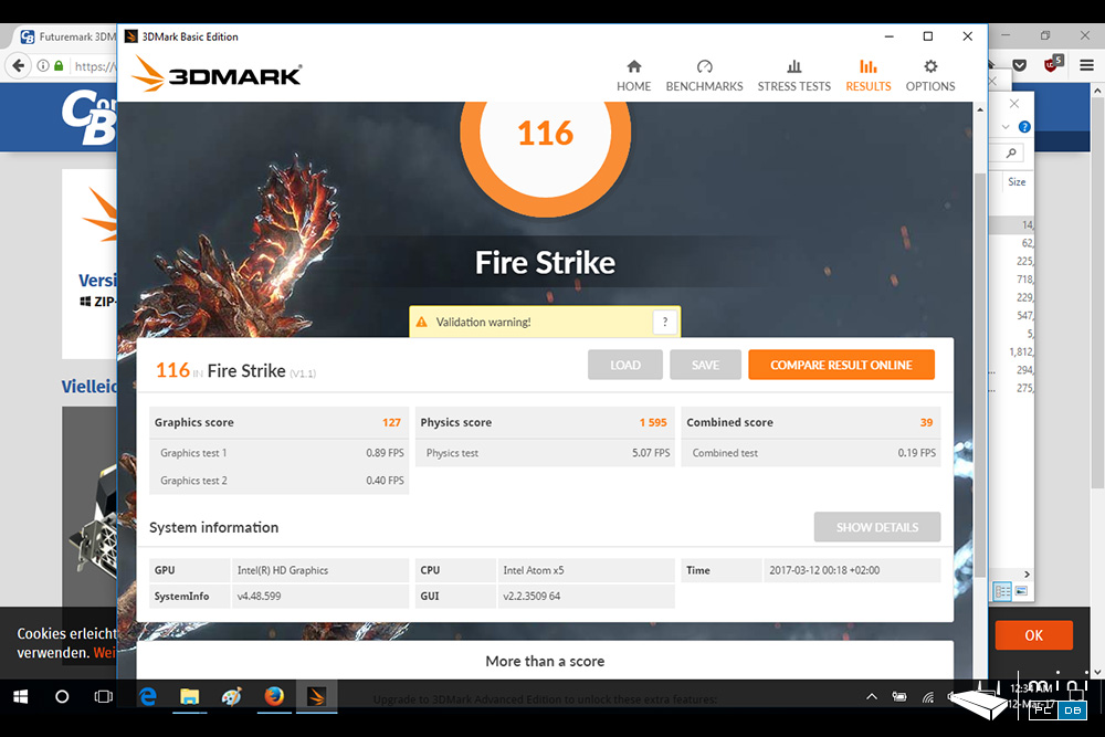Gole1 Plus - 3DMark FireStrike