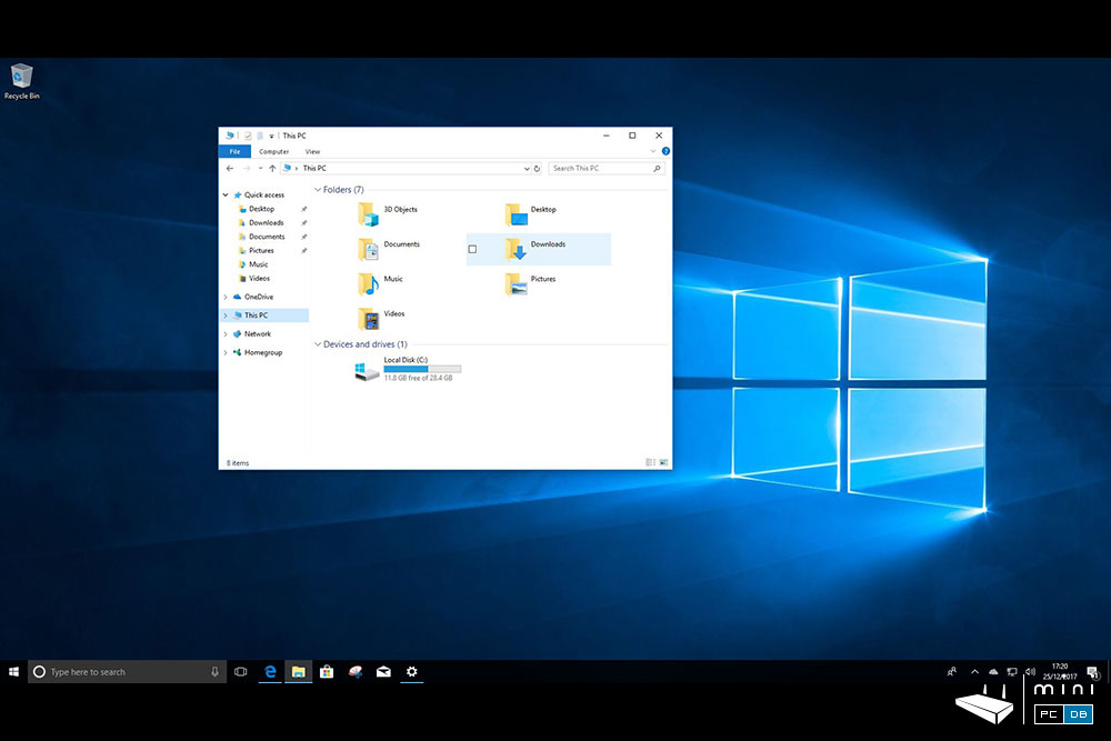 Higole Gole10 - space after the Windows 10 update