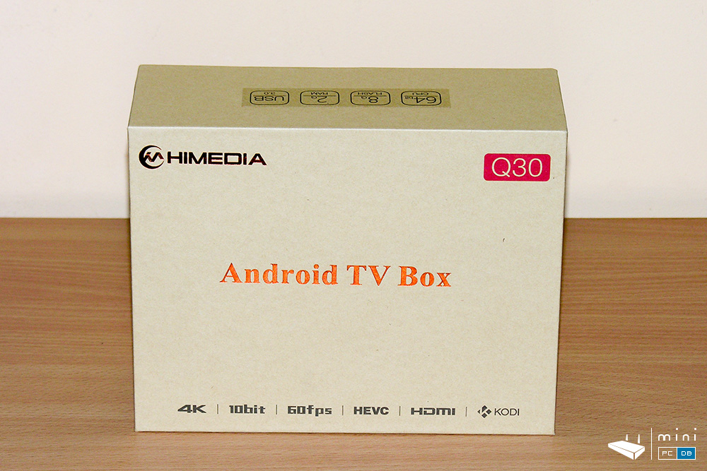 Himedia Q30 unboxing - the box