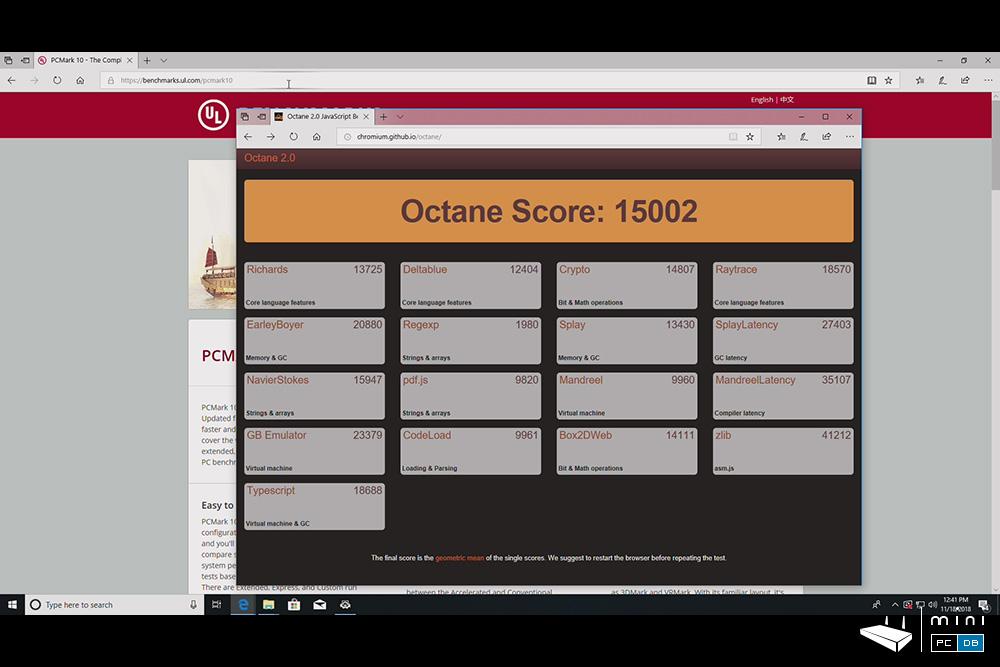 J50C-4 benchmarks : Octane