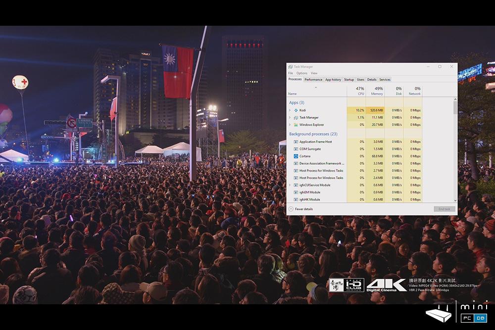 Minix NEO Z83-4 Pro - 4K video rendering