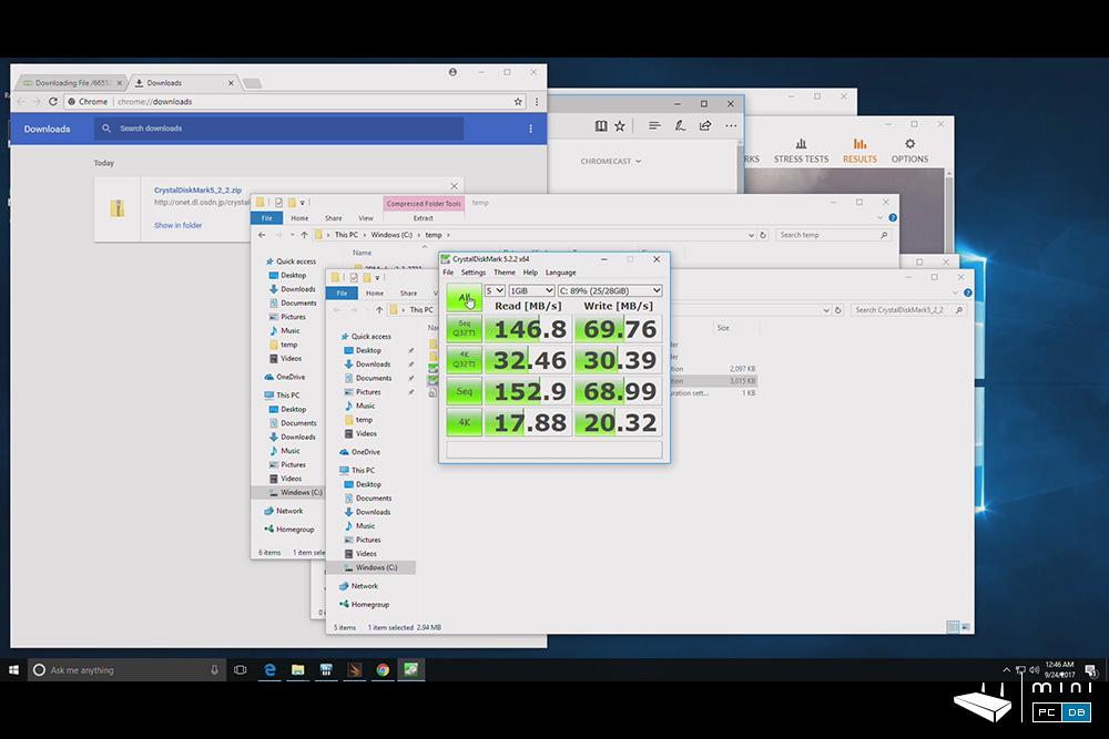 Minix NEO Z83-4 Pro benchmarks - CrystalDiskMark