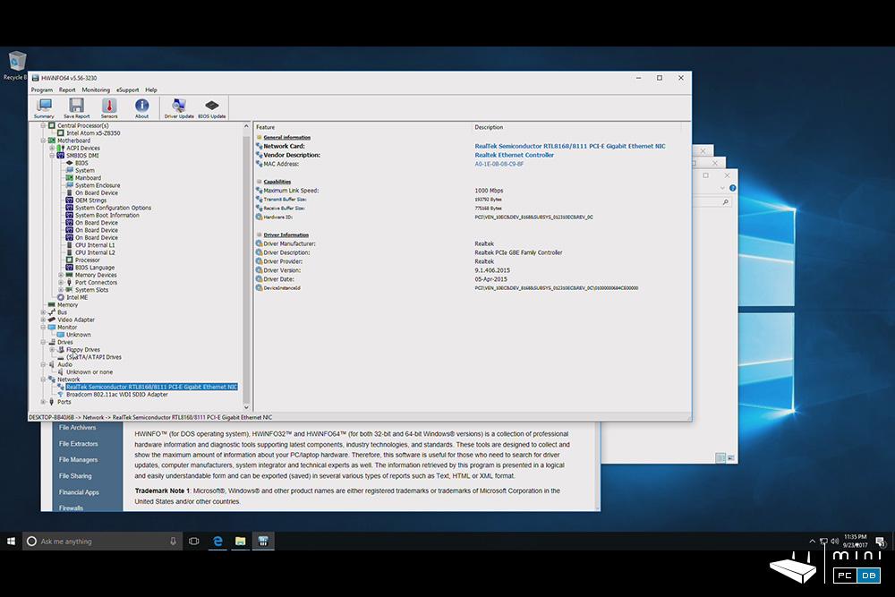 Minix NEO Z83-4 Pro benchmarks - HWiNFO64