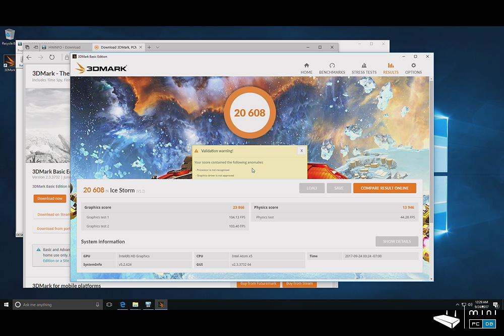 Minix NEO Z83-4 Pro benchmarks - 3DMARK IceStorm
