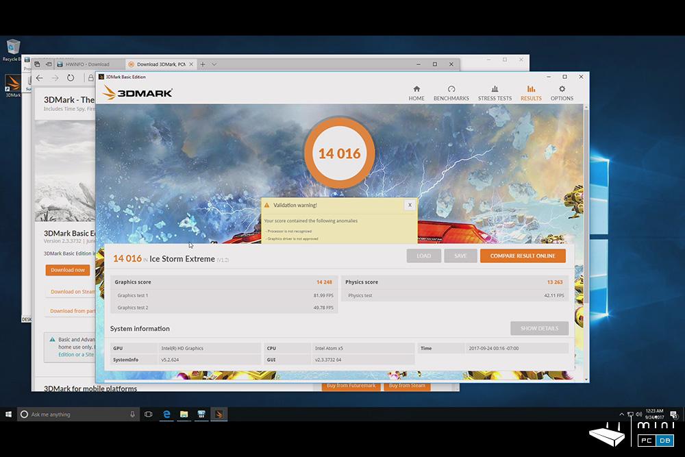 Minix NEO Z83-4 Pro benchmarks - 3DMARK IceStorm Extreme