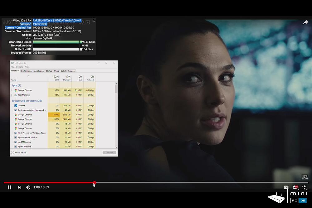 Minix NEO Z83-4 Pro - Youtube full HD
