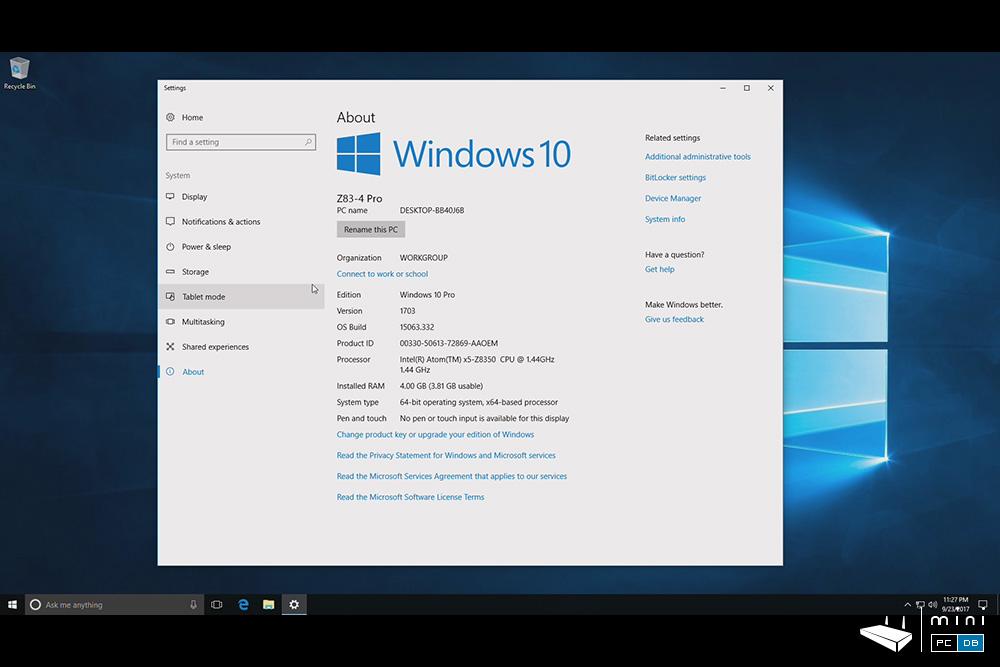 Minix NEO Z83-4 Pro - Windows 10 Pro