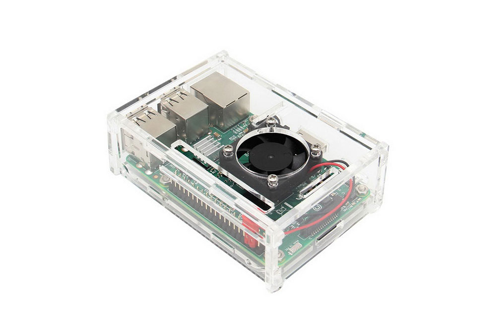 Raspberry Pi 3 Model B case with fan