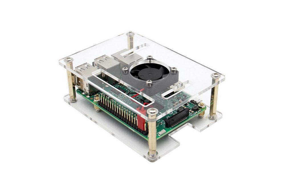 Raspberry Pi 3 Model B case with fan