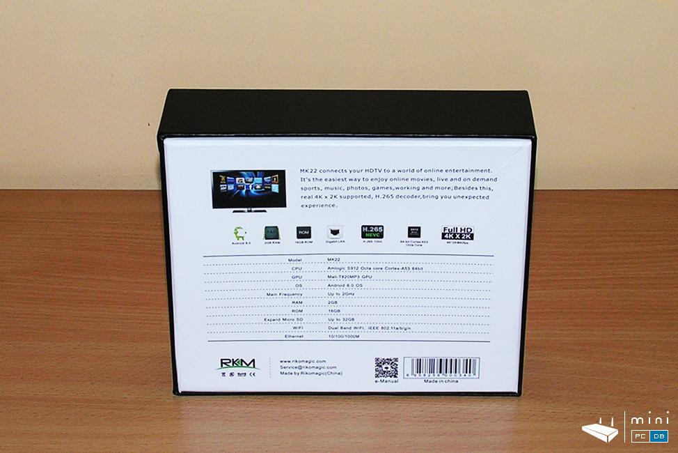 Rikomagic MK22 unboxing (specs)
