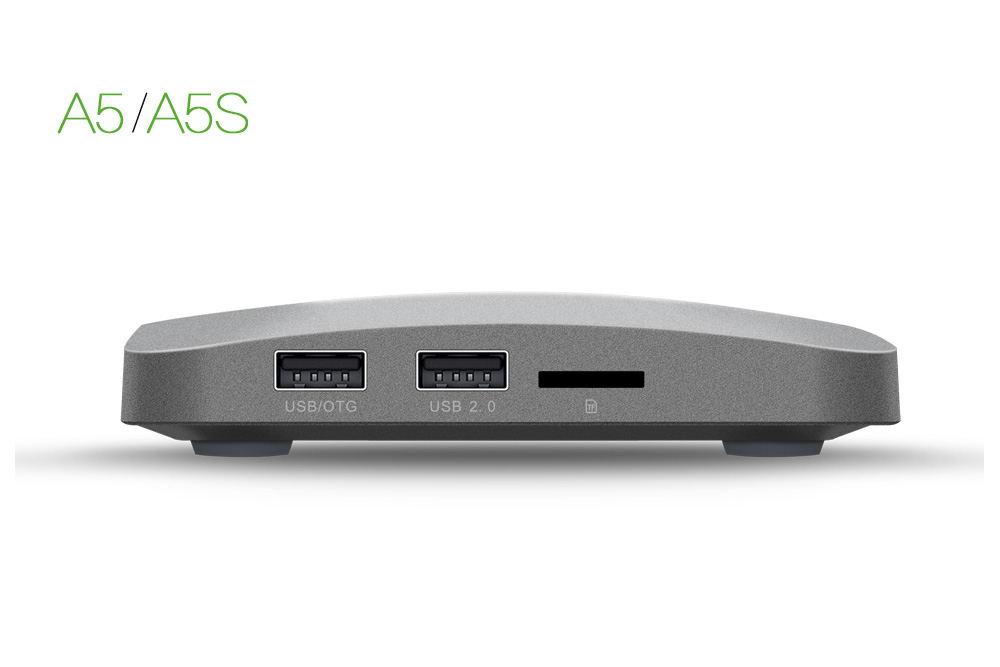 Zidoo A5 and A5S Mini PC, side view