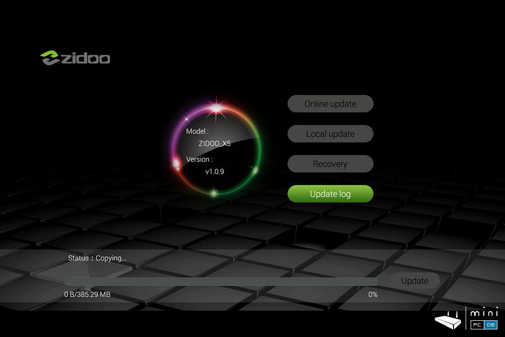 Zidoo X5 firmware updates