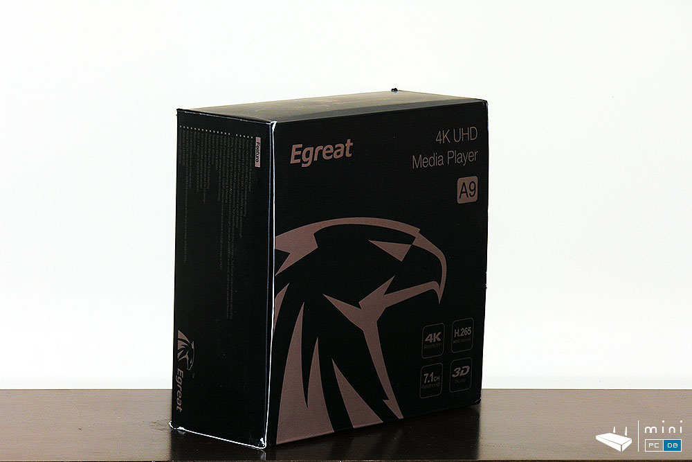 Egreat A9 with Egreat's new falcon logo