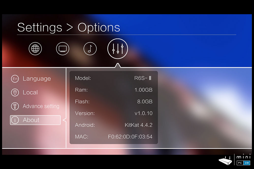 Egreat R6S-II settings