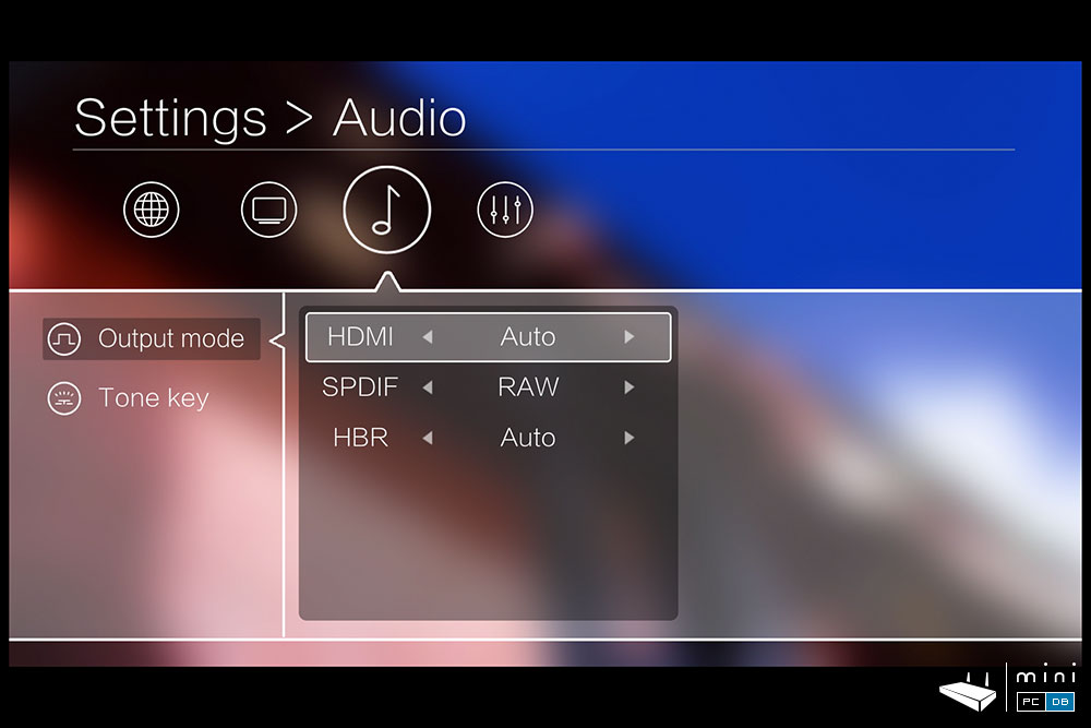 Egreat R6S-II output settings