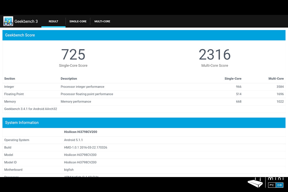 Himedia Q10 Pro Geekbench
