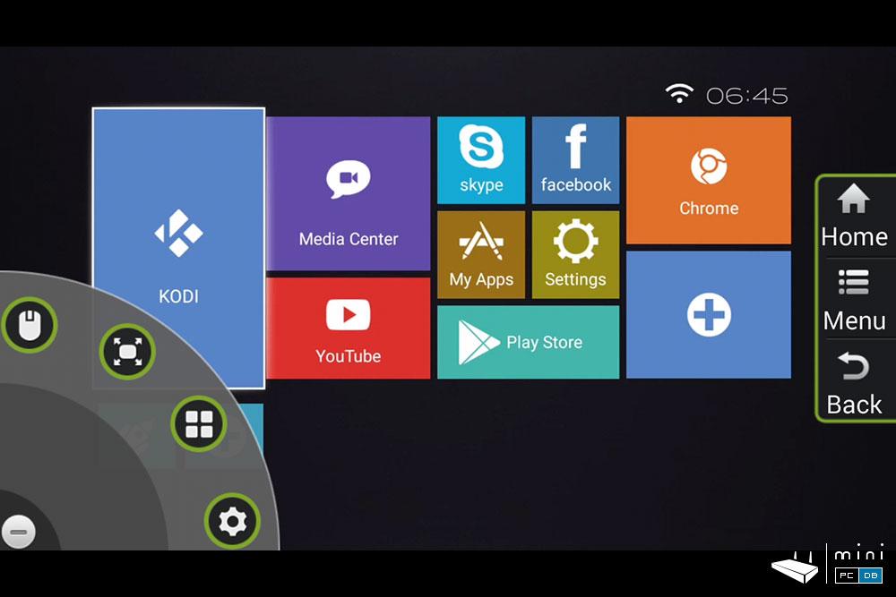 Himedia Q10 Pro HiControl App - app menu