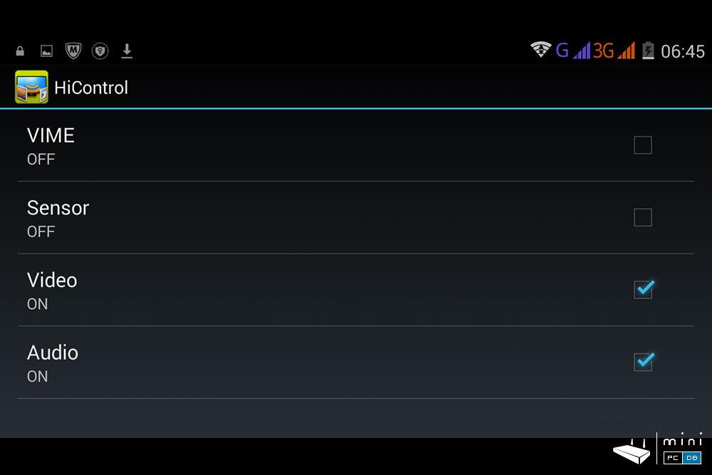 Himedia Q10 Pro HiControl App - app settings