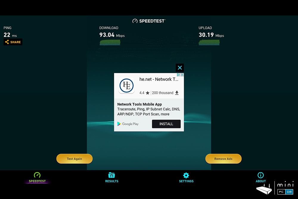 Himedia Q30 - speedtest benchmark