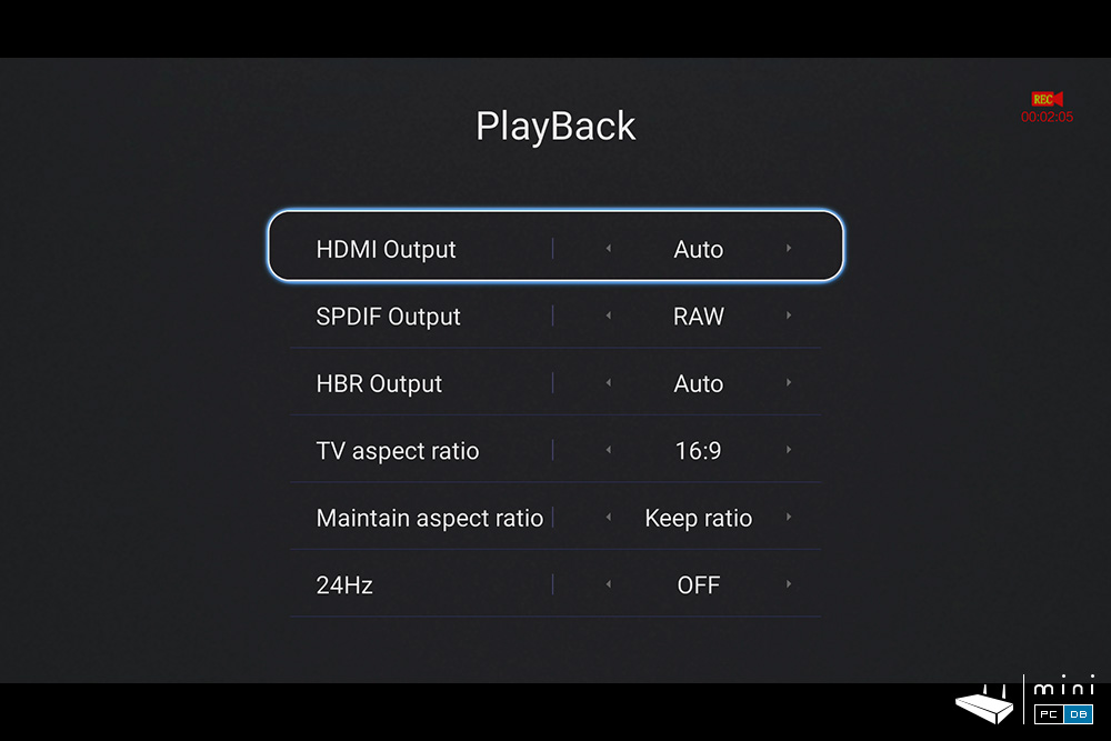 Himedia Q30 video settings