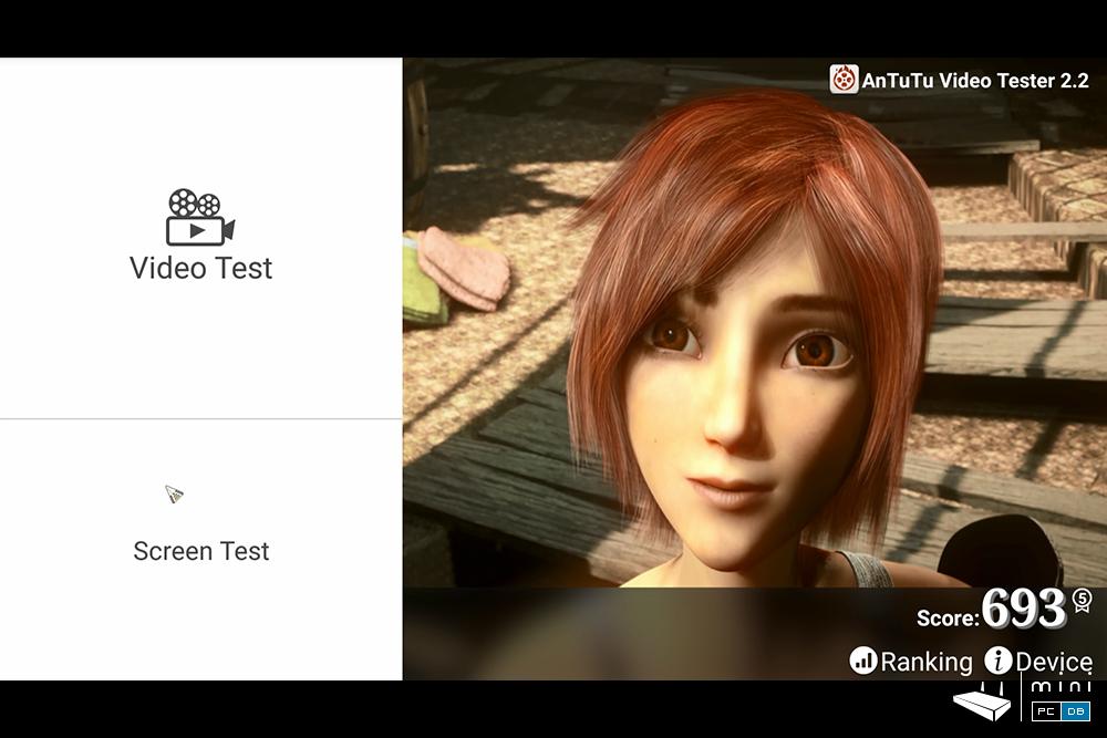 Minix U1 Antutu video tester