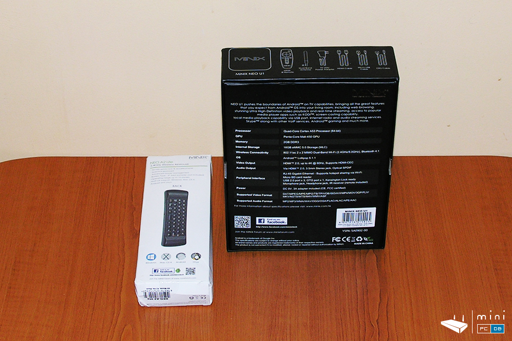 Minix U1 with A2 lite airmouse