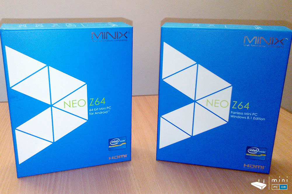 Minix Z64 Windows and Android (side by side)