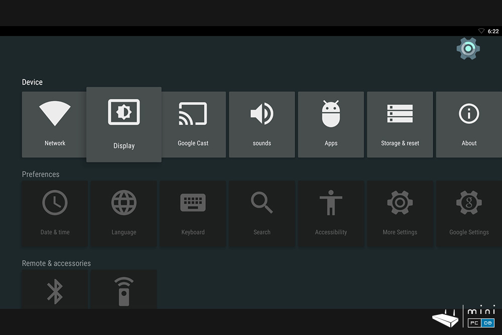MyGica ATV1900AC settings UI