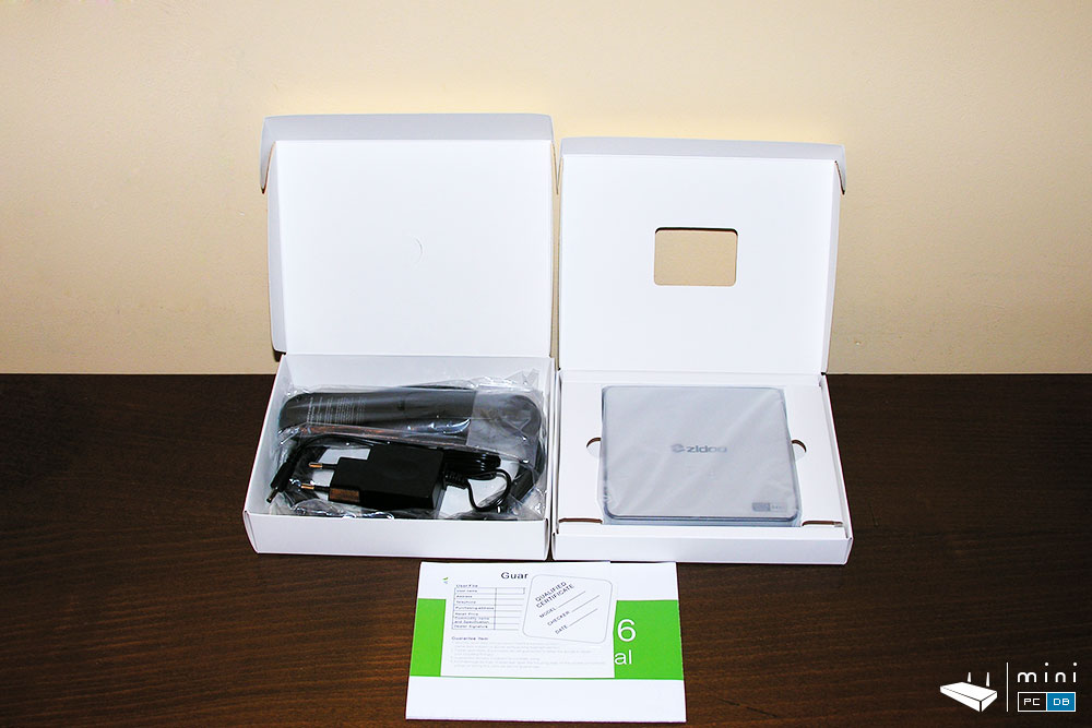 Zidoo X6 Pro package contents