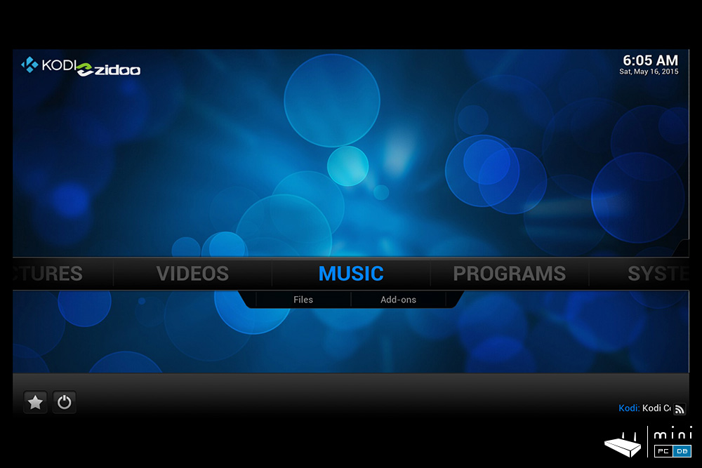 Zidoo X9 comes with a modified version of Kodi/XBMC